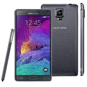 *N5043* Smartphone Samsung Galaxy Note 4 SM-N910C Preto com Tela de 5.7'', Câmera 16MP, 3G/4G, Android 4.4 e Processador Octa-Core