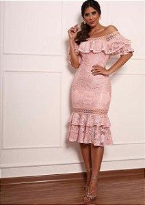 Vestido Ombro Renda 3392