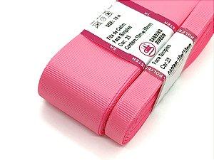 Fita de Gorgurão Sanding - Rosa Neon (23) - 10mm, 22mm ou 38mm - Rolo 10 metros