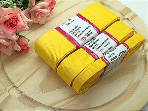 Fita de Gorgurão Sanding - Amarelo Gema (115) - 10mm, 22mm ou 38mm - Rolo 10 metros
