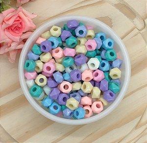 Miçanga Tipo Tererê Facetado - Candy Colors - 12mm - Pacote 30 gramas