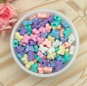 Miçanga Borboletinhas LOVE - Candy Colors Sortidas - Pacote 30 gramas