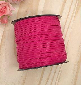 Fio de Camurça - Rosa Pink - 2.5mm - 2 metros
