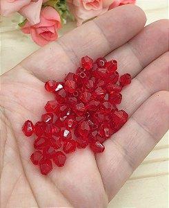 Miçanga Balãozinho - Vermelho - 5mm - Pacote 20 gramas