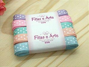 Kit de Fitas Poá - Candy Colors - 10mm - 2 metros de cada cor (total 10 metros)