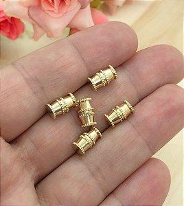 Fecho de Enroscar Pequeno - Dourado - 5 unidades