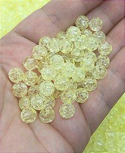 Bolinha Efeito Craquelado - Amarela - 8mm - 30 gramas