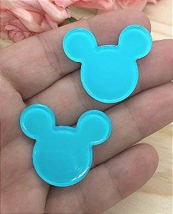 Aplique de Acrílico - Mickey/Minie Azul - 2 unidades