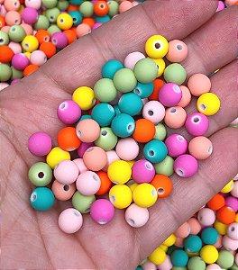 Bolinhas Foscas Coloridas - 8mm - 30 gramas