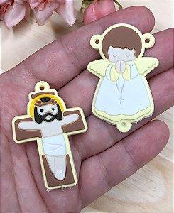 Emborrachados - Anjinho e Crucifixo - Amarelo (par)