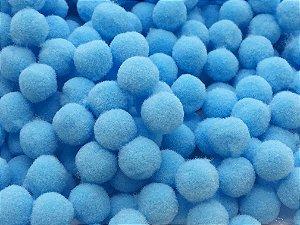 Pompom Azul Claro - 1cm - Pacote com 100 unidades