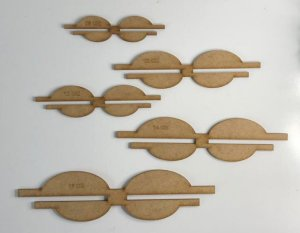 Kit de Gabaritos para Laços Lonita - 5 peças