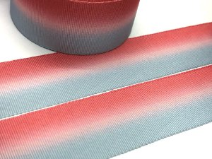 Fita de Gorgurão Estampada - Degradê Rosa e Azul - Artfitas - 38mm