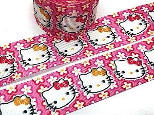 Fita de Gorgurão Estampada - Hello Kitty - Sakura - 38mm