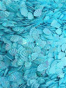 Micro Conchinhas para Laços - Azul Claro - Pacote 10 gramas