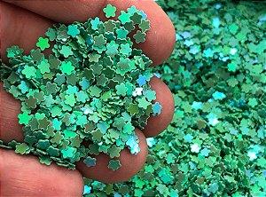 Micro Florzinhas - Verde Água - Pacote com 10 gramas