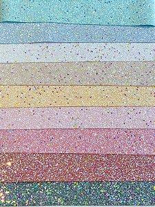 Lonita Glitter Grosso - BRILHA NO ESCURO - 24x40cm - Unidade