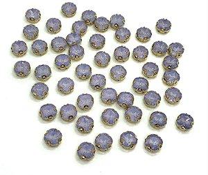 Pedra Redonda Garra Dourada - Lilás Fumê - 10mm - 5 unidades