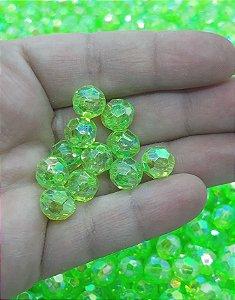 Bolinha Sextravada Irizada -  Verde - 10mm - 30 gramas