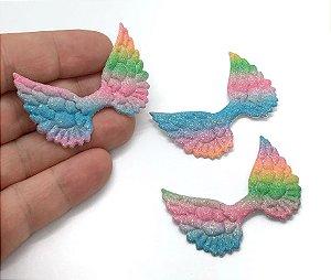 Aplique de Asas - Tie Dye - Candy Colors - 2 Unidades