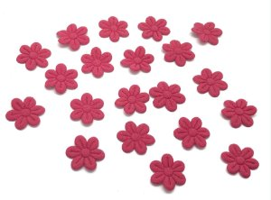 Florzinha de Tecido Pequena - Pink - 20 unidades