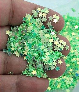 Micro-Apliques - Estrelinhas Verdes - Pacote com 10 gramas