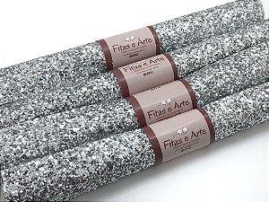 Lonita Glitter Grosso - Prata - 24x35cm - Unidade