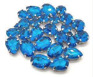 Kit Variado Engrampados - Azul - 25 peças