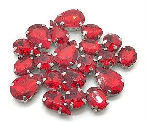 Kit Variado Engrampados - Vermelho - 20 peças