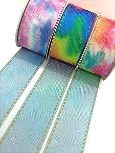 Fitas Jeans Tie-Dye Dupla Face - Sinimbu - 38mm