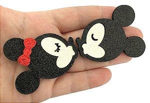 Aplique Glitter - Minnie e Mickey - Casal