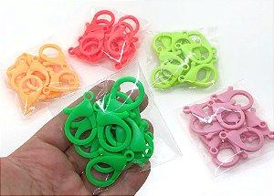 Fecho Lagosta Plástico - Infantil - Pacote 10 unidades