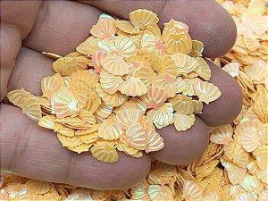 Micro Conchinhas para Laços - Amarela - Pacote 10 gramas