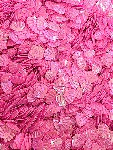 Micro Conchinhas para Laços - Rosa Chiclete - Pacote 10 gramas