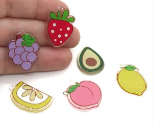 Kit Pingentes - Salada de Frutas - Pacote com 6 unidades