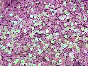 Micro Corações - Lilás - Pacote 10 gramas