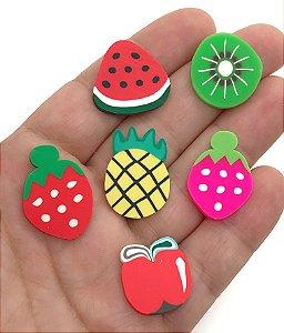 Aplique de Fimo - Salada de Frutas - Pacote com 12 unidades Sortidas