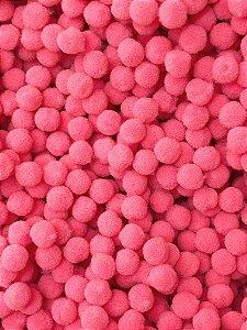 Pompom Rosa Chiclete - 1cm - Pacote com 100 unidades