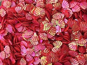 Micro Conchinhas - Coral - Pacote com 10 gramas