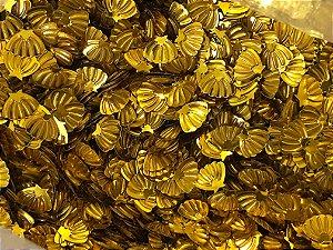 Micro Conchinhas - Dourada - Pacote com 10 gramas