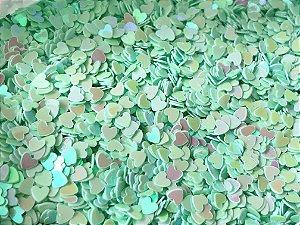 Micro Corações - Verde Água - Pacote com 10 gramas