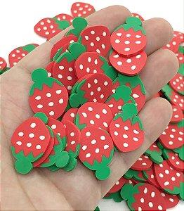 Aplique de Fimo - Moranho Vermelho - Pacote com 12 unidades