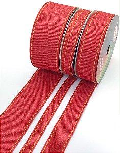 Fita Jeans Sinimbu - Vermelha - Rolo 10 metros