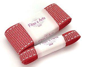 Kit de Fita Texturizada Sinimbu - Vermelha - 38mm e 10mm - 2 metros de cada