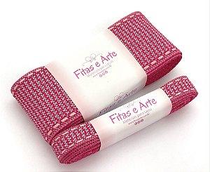 Kit de Fita Texturizada Sinimbu - Rosa Pink - 38mm e 10mm - 2 metros de cada