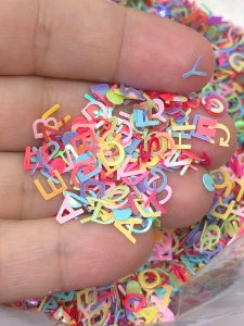 Micro Paetê - Alfabeto Sortido - Pacote 10 gramas