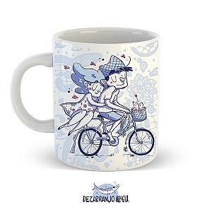 Caneca Namorados Bicicleta - 270ml