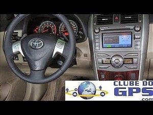 Atualização GPS multimídia do corolla
