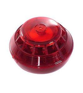 Sirene de Alarme de Incêndio Audiovisual Convencional/Endereçável Ascael 12/24 VCC - ASAV 1224
