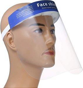 Protetor Máscara Facial Shield Transparente (Proteção COVID-19)